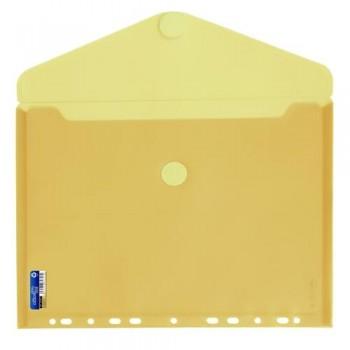 SOBRE A4 PP MULTITALADRO Y CIERRE VELCRO AMARILLO OFFICE BOX