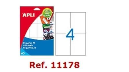 ETIQUETAS APLI DINA5 BL 105X74 15H
