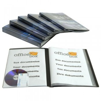 CARPETA 30 FUNDAS A4 230X310MM. PP PERSONALIZABLES NEGRO