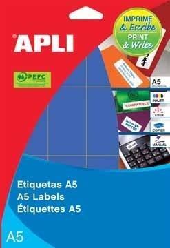 ETIQUETAS APLI DINA5 34X67 AZUL