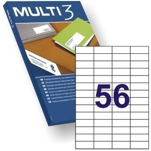 ETIQUETAS MULTI3 52,5X21,2mm