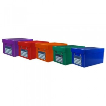 CAJA EASY-UP DELUXE tamaño L 235X155X127MM PP COLORES SURTIDOS OFFICE BOX