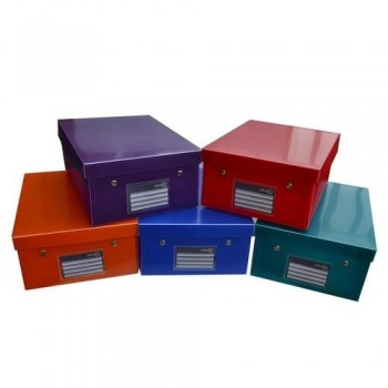 CAJA EASY-UP DELUXE tamaño XL A4+ 344X255X140MM PP COLORES SURTIDOS OFFICE BOX