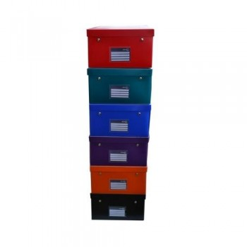 CAJA EASY-UP DELUXE tamaño XXL 400X295X170MM PP COLORES SURTIDOS OFFICE BOX