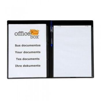 CARPETA CONGRESOS CON 3 SEP. A4+ 3 DIVISIONES PERSONALIZABLE NEGRO OFFICE BOX.