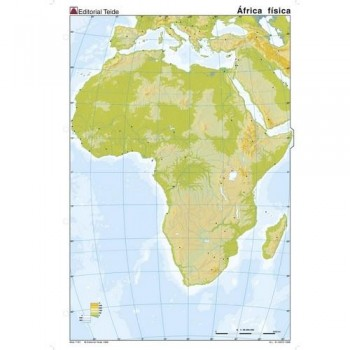 MAPA MUDO COLOR A4 FÍSICO AFRICA