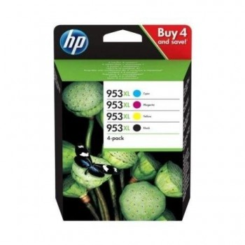 HP CARTUCHO ORIGINAL 953XL PACK AHORRO NEGRO CYAN MAGENTA  AMARILLO