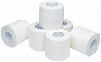 Papel higiénico encolado 2 capas 22m celulosa fardo 9 pack 12 rollos