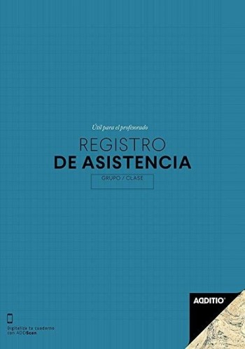 CUADERNO PROFESOR ADDITIO REGISTRO DE ASISTENCIA