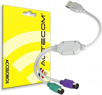 CABLE ADAPTADOR USB A PS2 RATON Y TECLADO