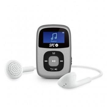 REPRODUCTOR SPC MP3 4GB PLATA  GRABACION VOZ