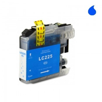 BROTHER CARTUCHO COMPATIBLE LC225XL CYAN
