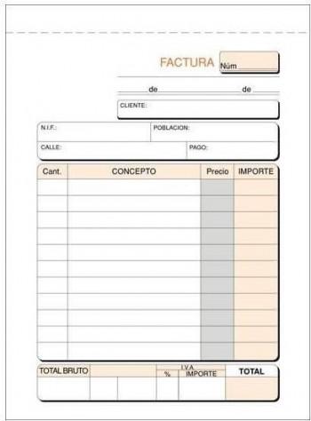TALONARIO FACTURAS 1/8 DUPLICADI NAT A68