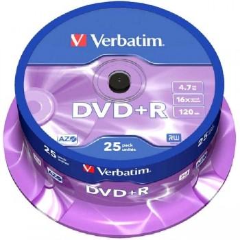 DVD+R TARRINA 25UNIDADES VERBATIN-INTENSO  16 X